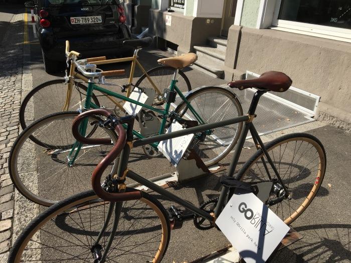 urban commuter bike Zurich Germany on display