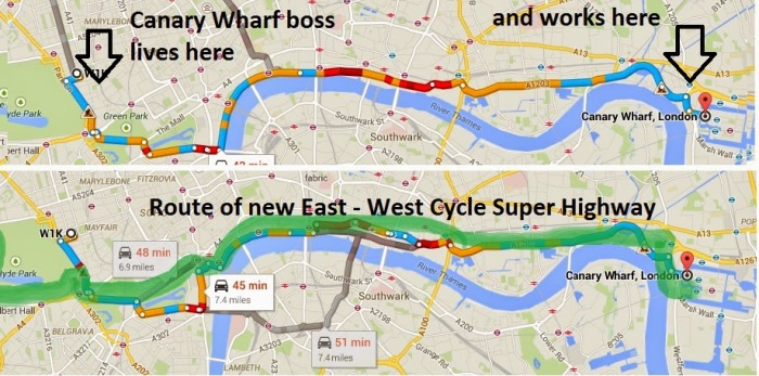map of cycling infrastructure london
