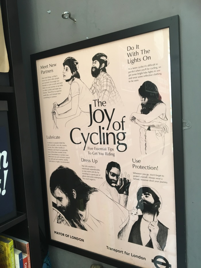 the joy of cycling sign in london