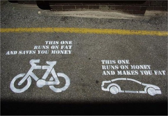 bikes run on fat and save money