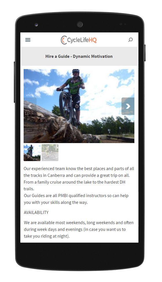 Cyclelifehq on mobile