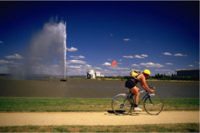 Best bike ride - Lake Burley Griffin central basin loop Canberra